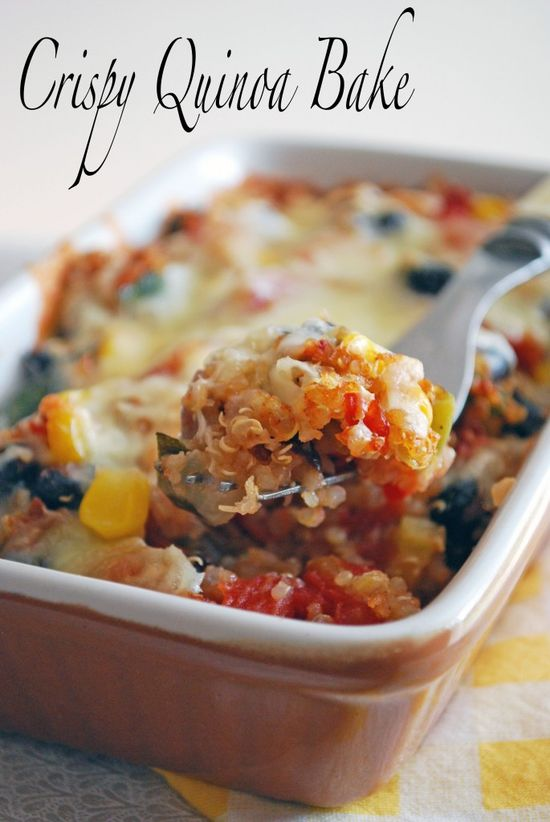 Crispy Quinoa Bake - This is a great seasonal bridge recipe as you can use fresh corn as long as possible and the ample late season zuke and tomatoes. Served with a green salad -maybe a kale salad - you've got a great meal!