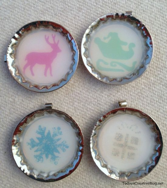 """Easy Handmade Gift Idea –  """"One Good Thing"""" by Jillee  would use this idea for magnets or tacks... uses Mod Podge Dimensional Magic"""