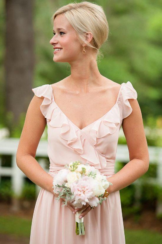 Blush bridesmaid's dress