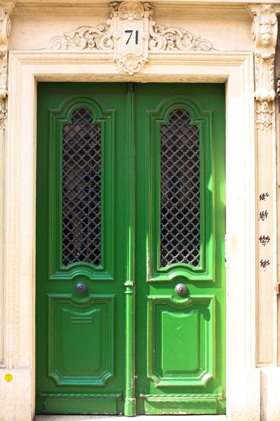What color should we paint our french doors?  Emerald Green Door  Paris Photography  Paris by rebeccaplotnick, $30.00