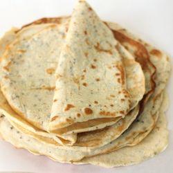 Gluten-free, grain-free flatbread. Use for sandwich wraps, tacos, enchiladas, lasagna, crepes, etc. Only 80 calories!