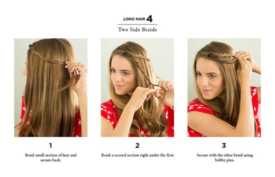 10 quick ways to style long & medium hair