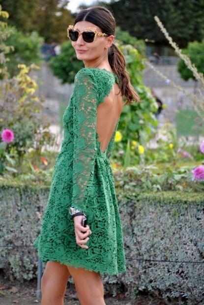 pretty green lacey dress
