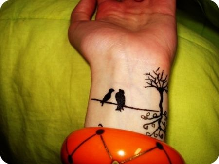 birds wrist too cute