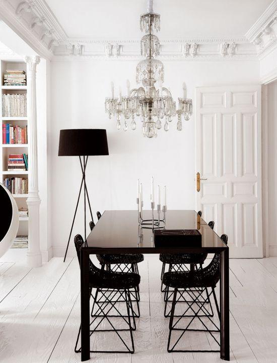 white, glam interiors