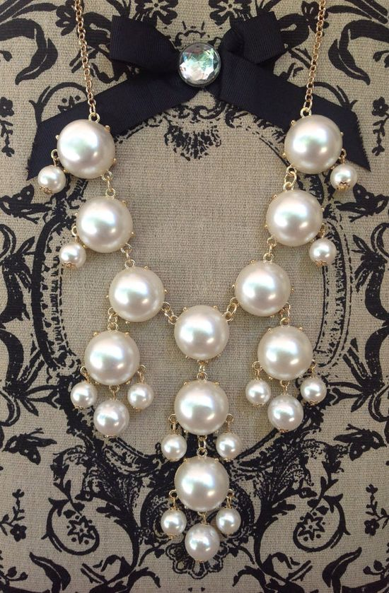 Perfect Pearls Bubble Necklace on Etsy, $14.00.