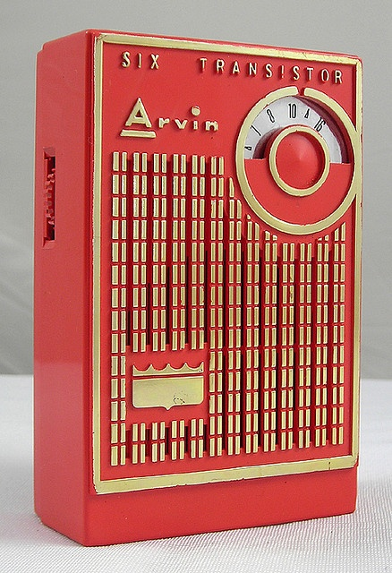 Arvin 6 Transistor Radio: omgosh, had one just like this in a fake leather case, to die for in the 50's.
