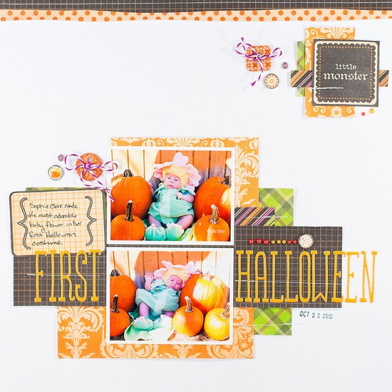 #papercraft #scrapbook #layout Love this Halloween layout from @Melissa Squires Squires Squires! @DCWV Inc. Inc. Inc. Inc.