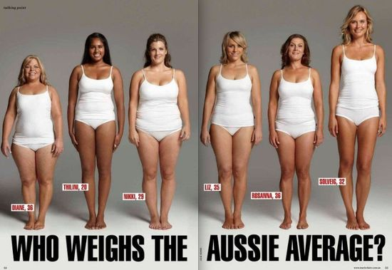 All these women weigh 154 pounds. We all carry weight differently.
