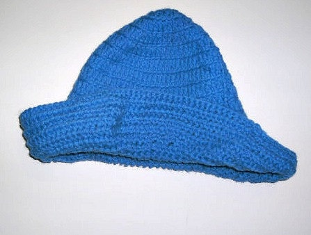 Handmade crocheted Blue brimmed crocheted by CanadianCraftCritter,