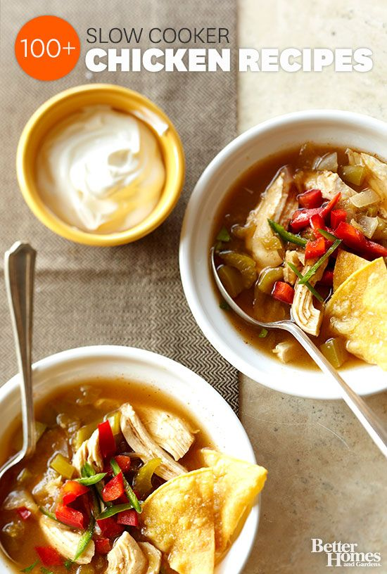 Check out tons of ideas for slow cooker chicken recipes. We have everything from soups to sandwiches: www.bhg.com/...