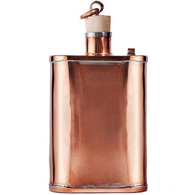 Color Cobre - Copper!!! Handmade Flask