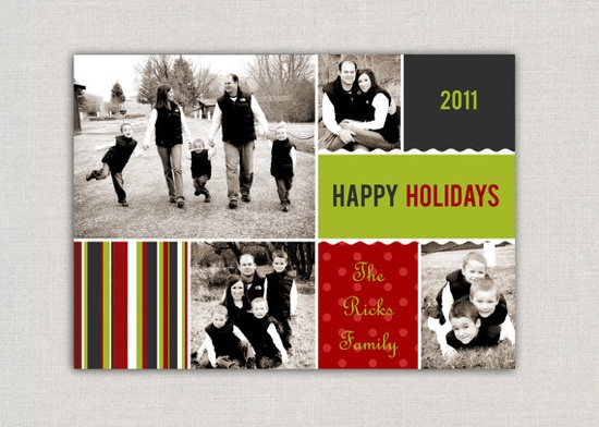 Photo Collage Christmas Card #Christmas #card #collage