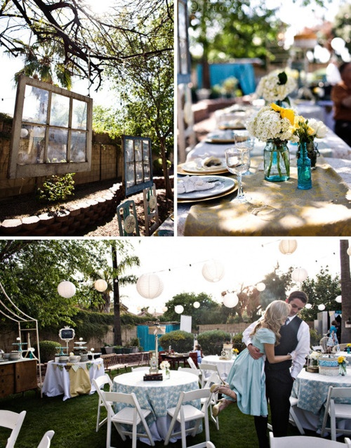 Backyard wedding