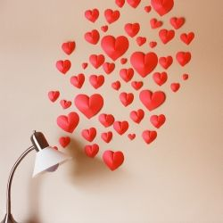 Heart bomb a loved one. Make easy 3D hearts with a printable template.