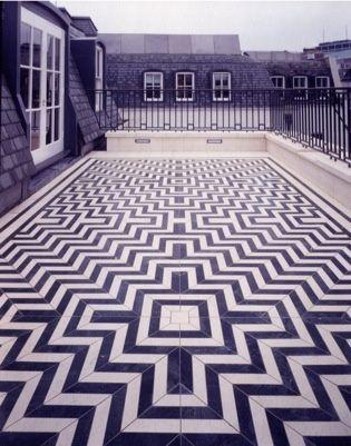 terrace floor.