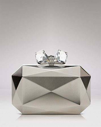 Overture Judith Leiber Clutch - Faceted Rectangle Metal