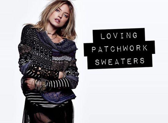 ::: OutsaPop Trashion ::: DIY fashion by Outi Pyy :::: Inspiration - patchwork knitwear