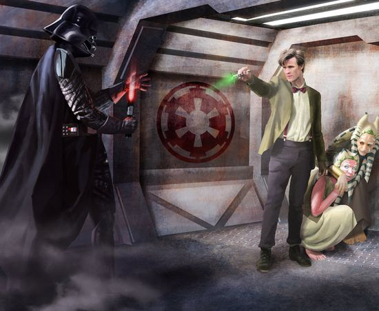 darth vader vs the 11th doctor