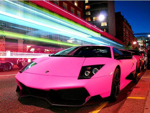omg, pink lambo...