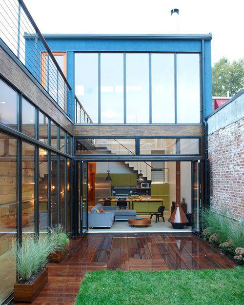 Atrium House - Brooklyn, NY By Mesh Architectures #architecture #atrium_house #mesh_architectures #brooklyn #ny