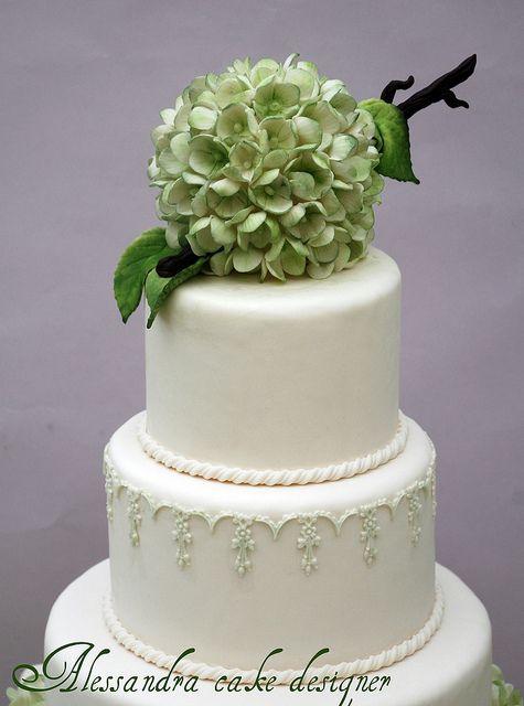 Wedding Cake hydrangea by Alessandra Cake Designer, via Flickr