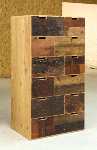 Lovely to see this turn up on Pinterest - it's the chest of drawers we commisioned. Floorboard Chest of Drawers - Tom Robinson Handmade Furniture from Brighton, Sussex