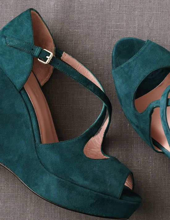 Loving these jewel toned wedges