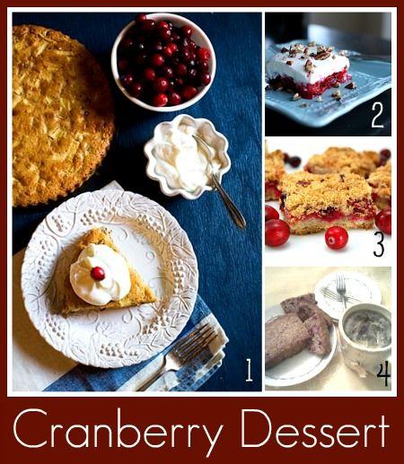 Thanksgiving Dessert - Cranberry Desserts