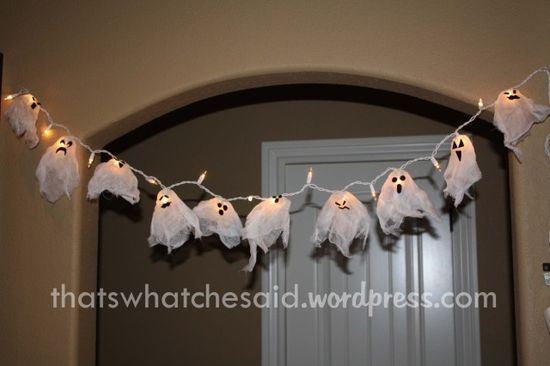 Homemade ghost lights...adorable!