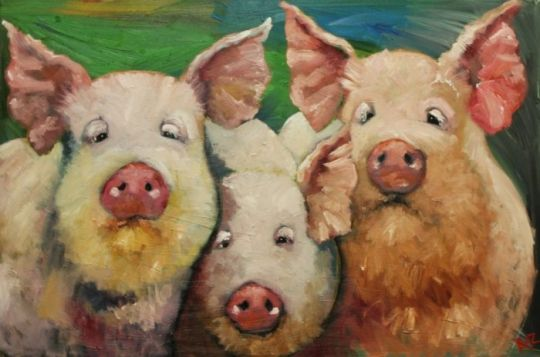 Pigs painting