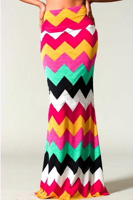Chevron Maxi Skirt. Love.