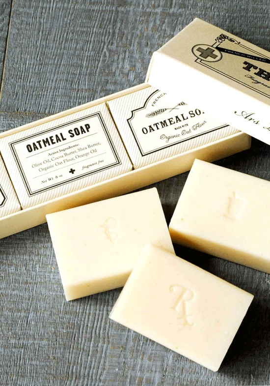 Set of 3 soaps - Apothecary from www.bodieandfou.com  #packaging