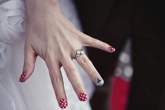 Rock n Roll bride nails