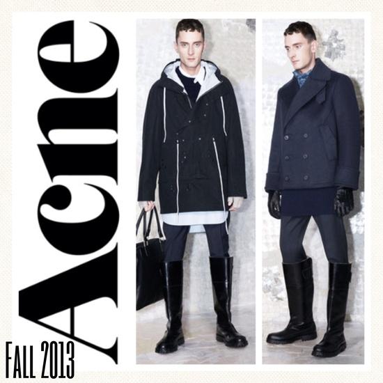 Acne Studios Fall Men's Fashion  Men's Fall Fashion 2013