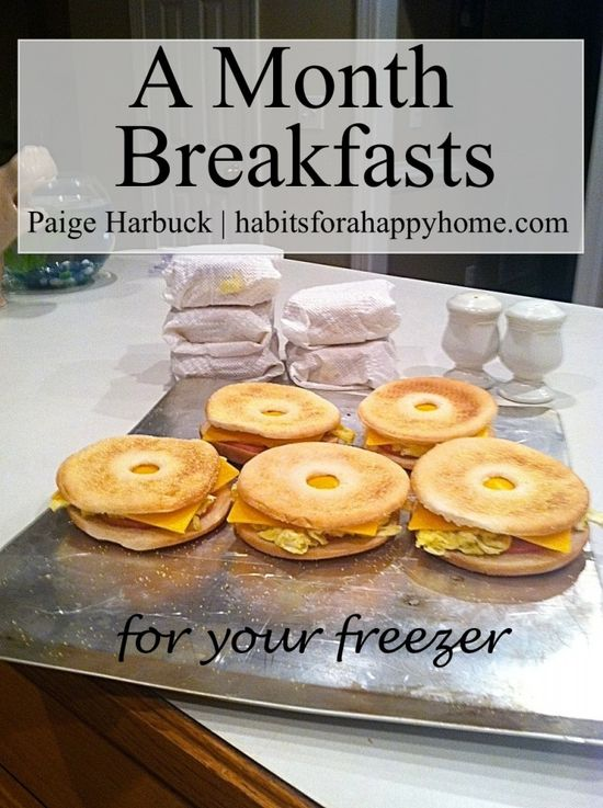 How to Make a Months of Breakfasts for Your Freezer www.habitsforahap...