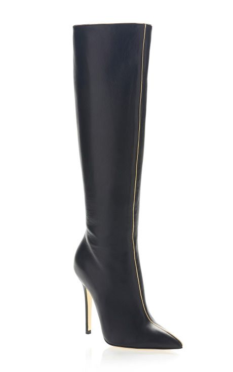 Versace Metallic Piped Boot