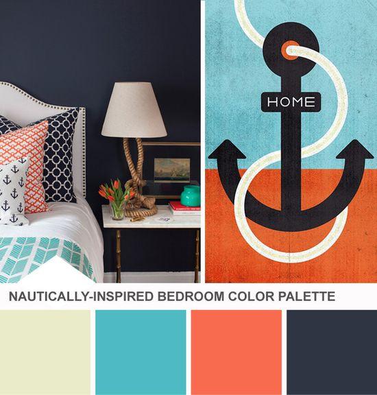 Nautical Bedroom Color Palette (blog.hgtv.com/...)