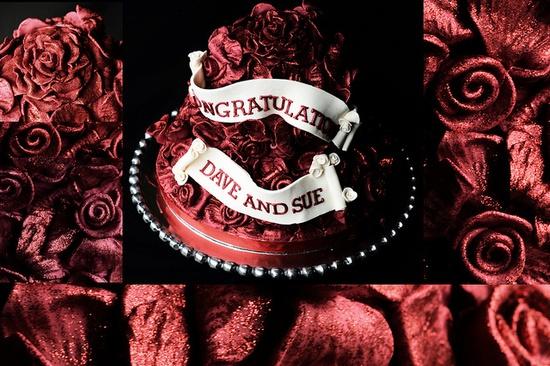 Ruby Wedding Cake #dental #poker
