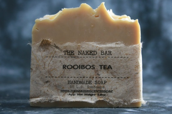 The Naked Bar, Rooibos Tea, Handmade, Vegan, Natural Soap.