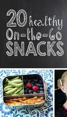 Get healthy on-the-go snack ideas!