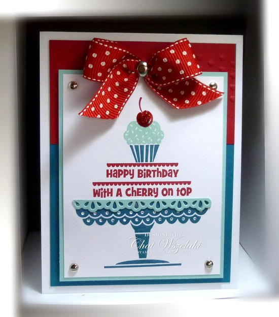 Stampin' Up! Birthday  A Cherry on Top  by Chat -