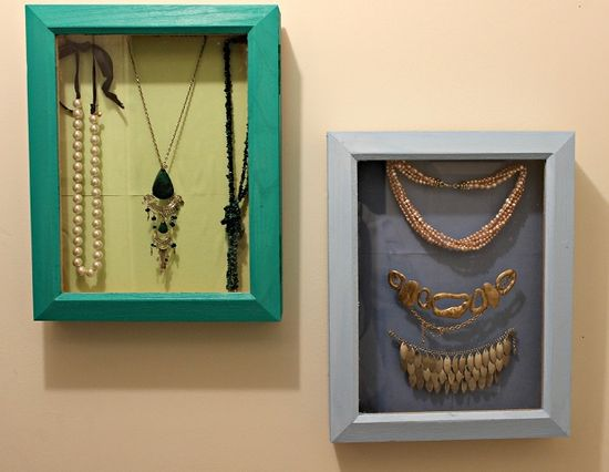 Do It Yourself: Shadowbox Jewelry Display