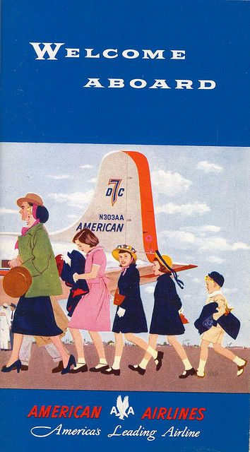 Vintage american airlines. Welcome aboard. #vintage #airline #airplane #travel #1950s #fifties #hostess #stewardess #flight #attendant