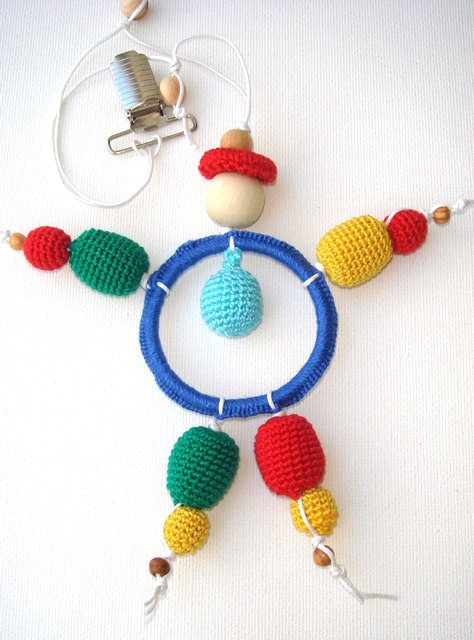 Colorful Teething Ring Waldorf toy