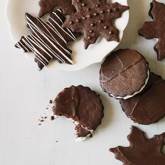 Chocolate-Mint Cookies // More Christmas Cookies: www.foodandwine.c... #foodandwine