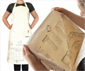 Cooking guides printed on apron