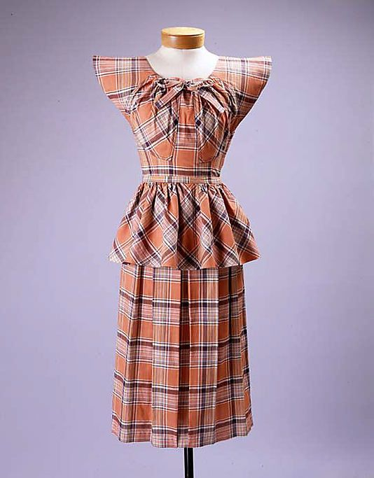 1940s  Claire McCardell day dress
