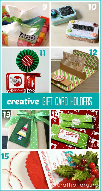 15 Creative DIY gift card holders