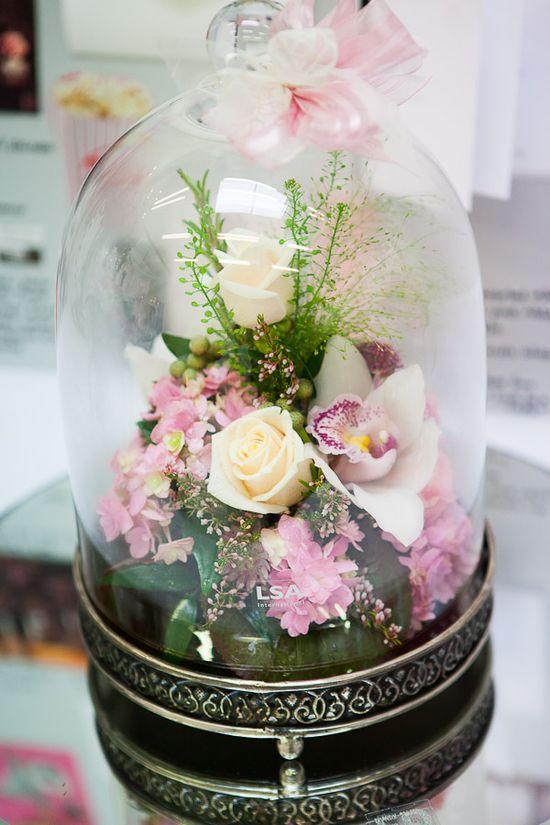 bell jar flower arrangements - Google Search